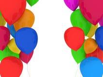 El partido hincha multicolor Fotografía de archivo libre de regalías