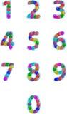 El partido hincha números Fotografía de archivo