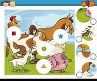 El partido junta las piezas de la historieta del juego Imágenes de archivo libres de regalías