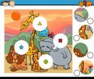 El partido junta las piezas de la historieta del juego Fotos de archivo