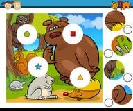 El partido junta las piezas de la historieta del juego Fotografía de archivo libre de regalías