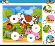El partido junta las piezas de la historieta del juego Imagen de archivo