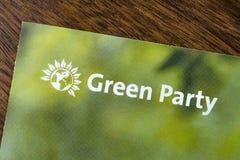 El Partido Verde imagen de archivo