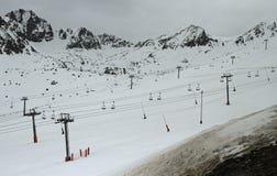 El Pas de la Casa是滑雪胜地 免版税库存照片
