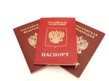 El pasaporte abierto Foto de archivo