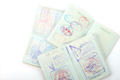 El pasaporte, visa, estampa. Imagen de archivo