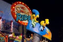 El paseo de Simpsons Imagenes de archivo