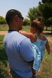 El paseo del papá Fotografía de archivo libre de regalías
