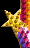 El paseo del parque de atracciones enciende la estrella Imagen de archivo libre de regalías