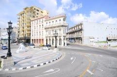 El Paseo del Prado, a famous street in Havana Royalty Free Stock Image