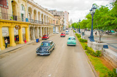 El Paseo del Prado, a famous street in Havana Stock Photos