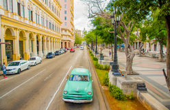 El Paseo del Prado, a famous street in Havana Royalty Free Stock Photo