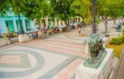 El Paseo del Prado, a famous street in Havana Royalty Free Stock Images