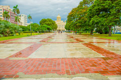 El Paseo del Prado, a famous street in Havana Stock Images