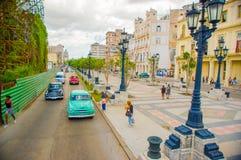 El Paseo del Prado, a famous street in Havana Royalty Free Stock Photography