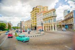 El Paseo del Prado, a famous street in Havana Royalty Free Stock Photos
