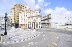 El Paseo del Prado, una via famosa a Avana Immagine Stock Libera da Diritti