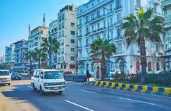 El paseo en Alexandría, Egipto Fotos de archivo libres de regalías