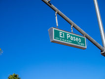 El Paseo street sign Royalty Free Stock Image