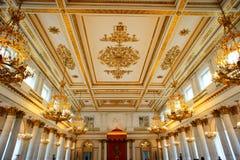 El pasillo de danza del palacio del invierno foto de archivo libre de regalías