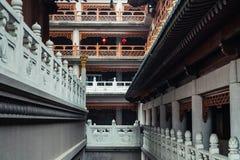 El pasillo de Jing'an Temple imágenes de archivo libres de regalías