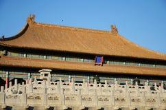 El Pasillo de la armonía suprema en la ciudad prohibida Foto de archivo libre de regalías