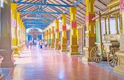 El pasillo de Munneswaram Kovil Imagen de archivo