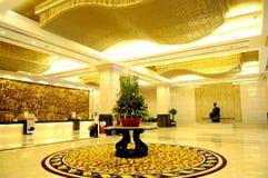 El pasillo del hotel de lujo Foto de archivo libre de regalías