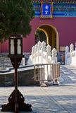 El pasillo en el templo del cielo Imagenes de archivo