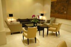 El pasillo en hotel Imagen de archivo