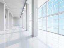 El pasillo grande vacío Fotografía de archivo