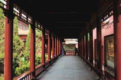 El pasillo largo Foto de archivo