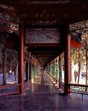 El pasillo largo del palacio de verano Fotos de archivo libres de regalías