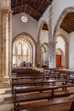 El pasillo y los cubos de Santa Clara Church Foto de archivo