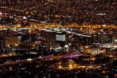 El Paso华雷斯夜光2 库存照片