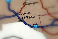 El Paso, Texas - United States US. El Paso, a city in and the seat of El Paso County, Texas, United States royalty free stock images