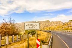 El paso de Michell en Western Cape, Suráfrica Imagen de archivo