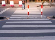 El paso de peatones Foto de archivo