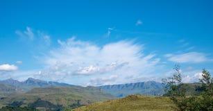 El paso de Sani, paso de monta?a muy alta que conecta Sur?frica con Lesotho fotos de archivo libres de regalías