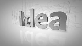 El paso del texto de la palabra de la idea aparece libre illustration
