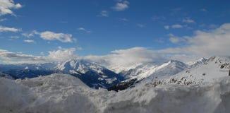 El paso Jaufen Italia Fotografía de archivo