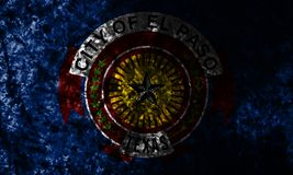 El Paso miasta grunge tła flaga, Teksas stan, Stany Zjednoczone Ameryka zdjęcia stock