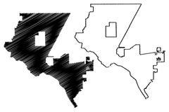 El Paso miasta mapy wektor royalty ilustracja