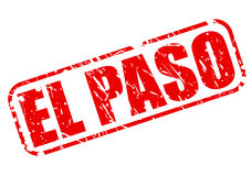 EL PASO red stamp text Royalty Free Stock Photography