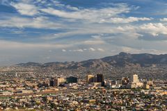 El Paso skyline. From the Scenic Drive Overlook in El Paso, Texas Royalty Free Stock Photos