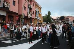 El Paso, Spanje - Augustus 18, 2018: Fiesta Pino del Virgen stock afbeeldingen