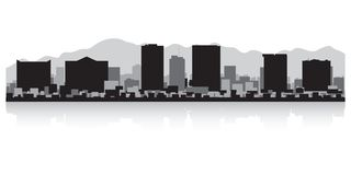 Free El Paso Texas City Skyline Silhouette Royalty Free Stock Images - 113861189
