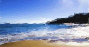 El pastel rinde de la playa y de ondas de la arena de California septentrional almacen de video