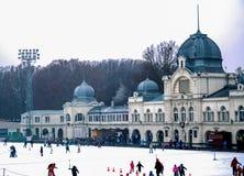 El patinar sobre hielo en Budapest fotografía de archivo libre de regalías