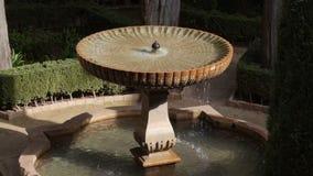 El patio de Alhambra almacen de video